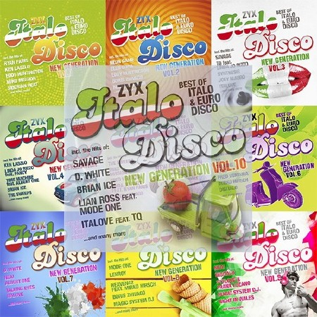 ZYX Italo Disco New Generation. Vol. 1-10 (2012-2017) Mp3