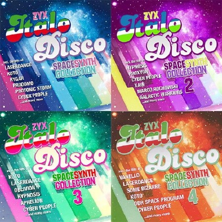 ZYX Italo Disco Spacesynth Collection 1-4 (2014-2018) Mp3