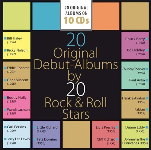 20 Original Debut Albums by 20 Rock & Roll Stars (10CD) (2015)